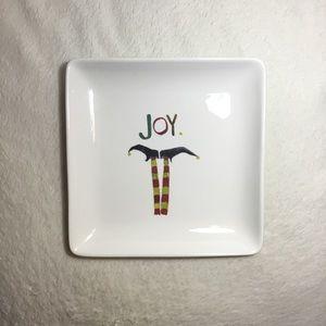 Rae Dunn JOY Elf Legs Ceramic Plate NWT New